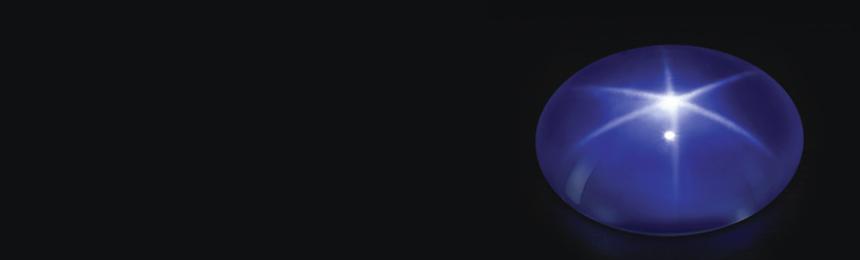 Blauer Stern-Saphir