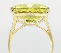 Ouro Verde-Quarz-Goldring
