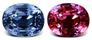 Blauer Farbwechsel -Granat
