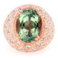 Rio Grande-Grüner Amethyst-Silberring, rosévergoldet