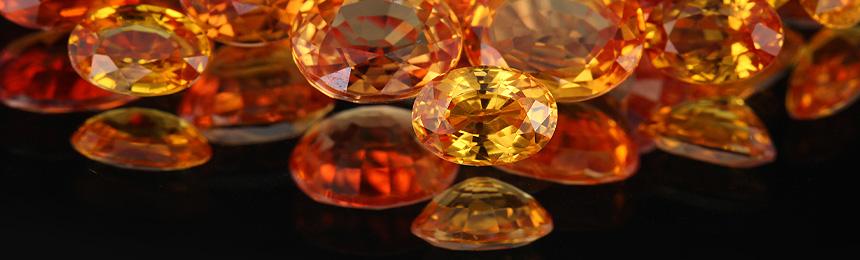 Gelbe und Orange Saphire