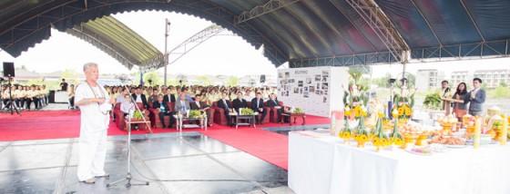 Zeremonie zur Grundsteinlegung