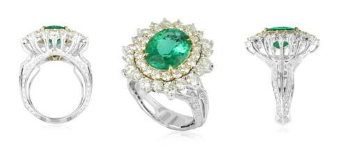 Russischer Smaragd-Goldring