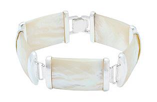 Perlmutt-Silberarmband