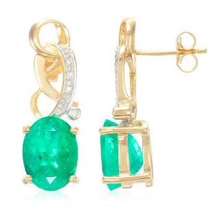 Muzo-Kolumbianischer-Smaragd-Goldohrringe