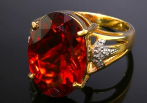 AAA-Roter Andesin-Goldring