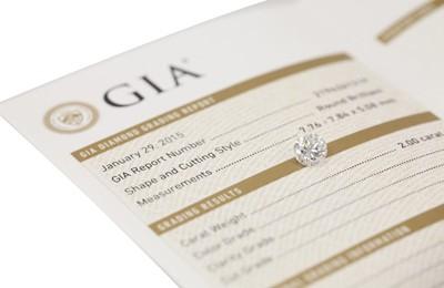 GIA-Zertifikat für Weißen Diamanten