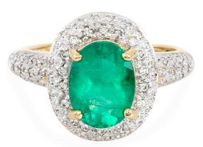 Muzo-Kolumbianischer Smaragd-Goldring