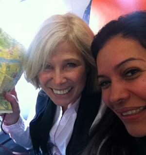 Im Flugzeug nach Bogotà