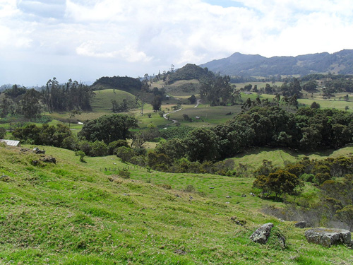 Typische Landschaft in Boyacá