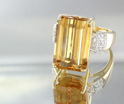 AAA-Kaiserlicher Topas-Goldring
