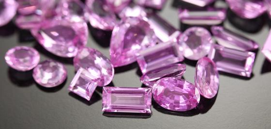 Pinkfarbene Ceylon-Saphire