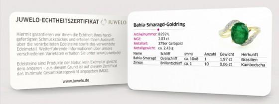 Mit jedem Schmuckstück von Juwelo – Ihrem Online-Juweliergeschäft – wird Ihnen ein Echtheitszertifikat mitgeliefert.