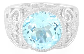 Himmelblauer Topas-Silberring