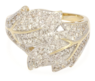 Weißer Saphir-Goldring