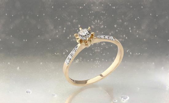 Diamant-Goldring der Annette Kollektion