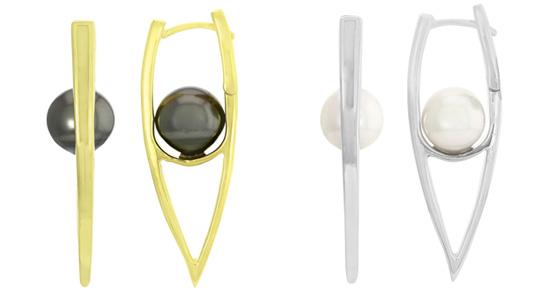 Ohrringe mit Tahiti- und Akoya-Perlen