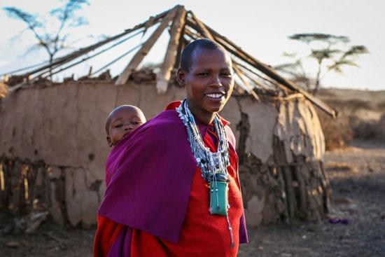 Kenianerin mit Baby