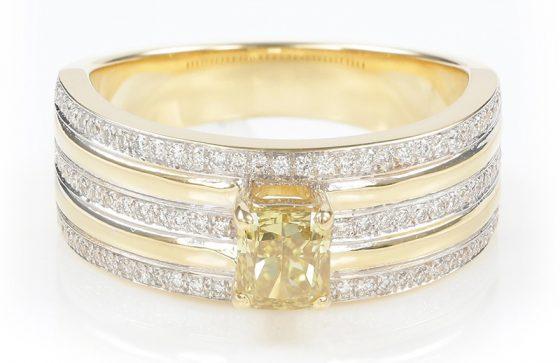 VVS Argyle-Fancy-Diamant-Goldring
