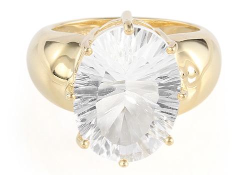 Vergoldeter Petalit-Silberring