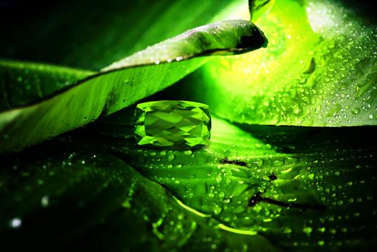 Grüner Kaschmir-Peridot