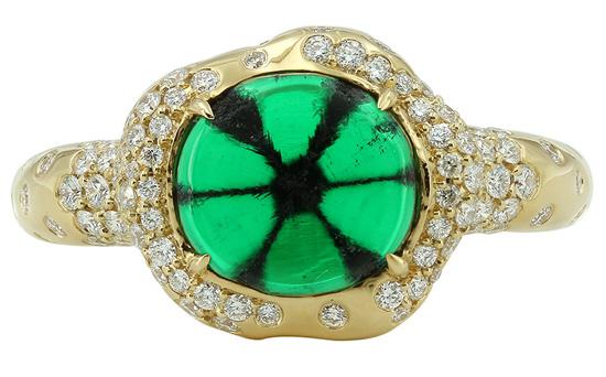 Trapiche-Smaragd-Goldring