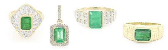 verschiedene Designs mit Sao Francisco-Smaragd