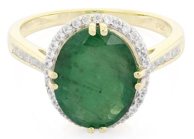 Transvaal-Smaragd-Goldring