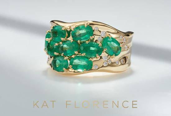 AAA-Brasilianischer Smaragd-Goldring