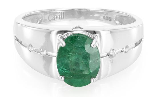 Kagem-Smaragd-Silberring
