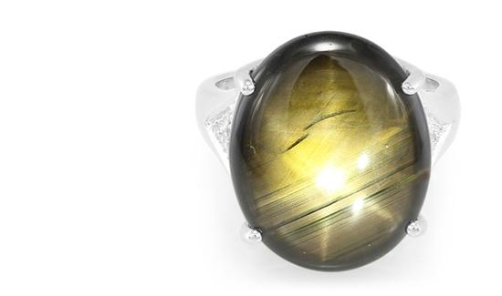 Gelb-Schwarzer Sternsaphir aus Thailand