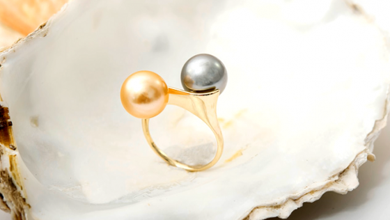 Perlenring von M de Luca