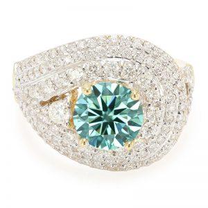 Blauer VS2 Diamant-Goldring Blauer VS2 Diamant-Goldring
