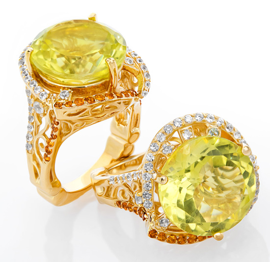 Dallas Prince Designs - Ouro Verde Quarz-Ring