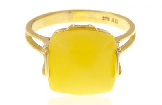 Milky Amber-Goldring
