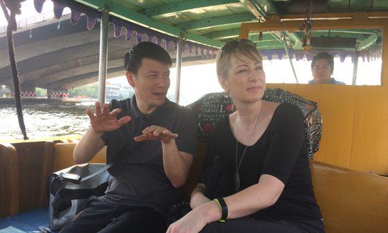 Paul zeigt mir Bangkok vom Wasser aus