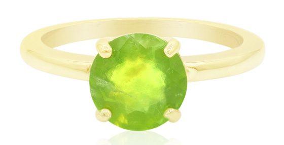 Brasilianischer Grüner Opal-Goldring