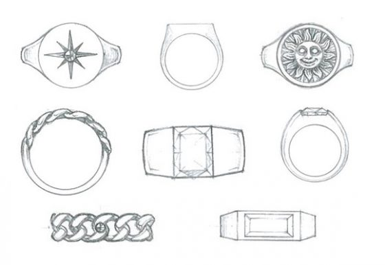 Entwürfe der neuen Kollektion