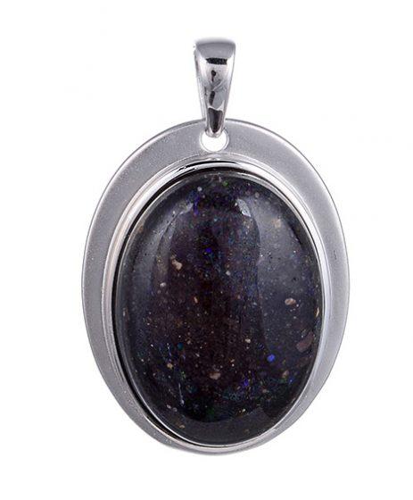 Honduras-Opal-Silberanhänger