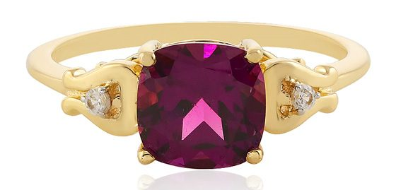 Royaler Purpur-Granat-Goldring1348GD