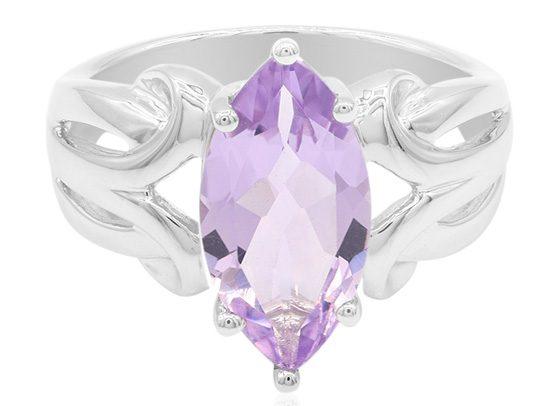 Lavendel-Amethyst-Silberring