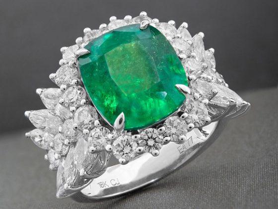 CIRARI AAA-Sambia-Smaragd-Goldring