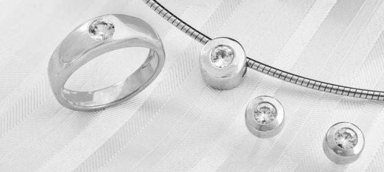 Zirkon-Sets in Silber