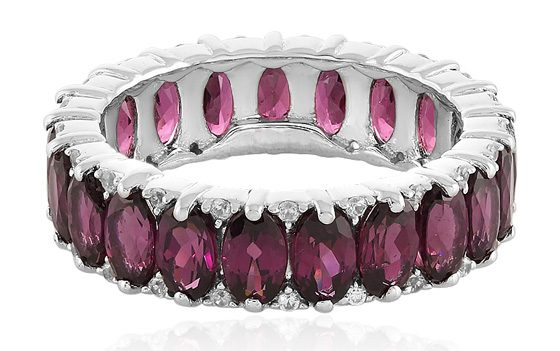 Eternity-Ring mit Tocantin-Granat