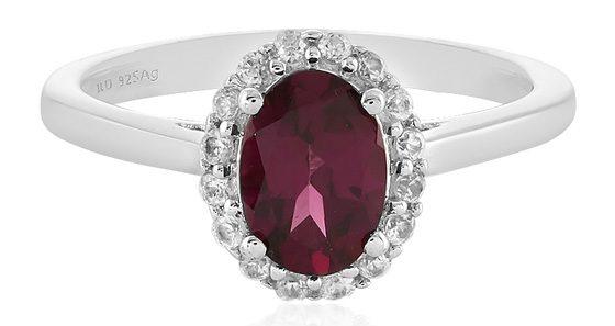 Edler, klassisch-eleganter Granat-Ring