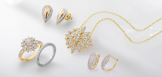 Schmuckstücke der Lucent Diamonds-Kollektion