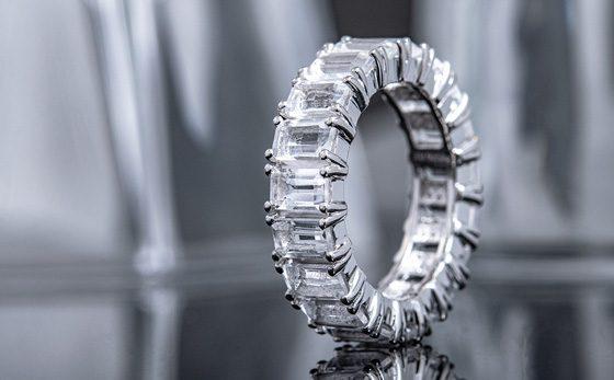 Weißer Quarz-Silberring