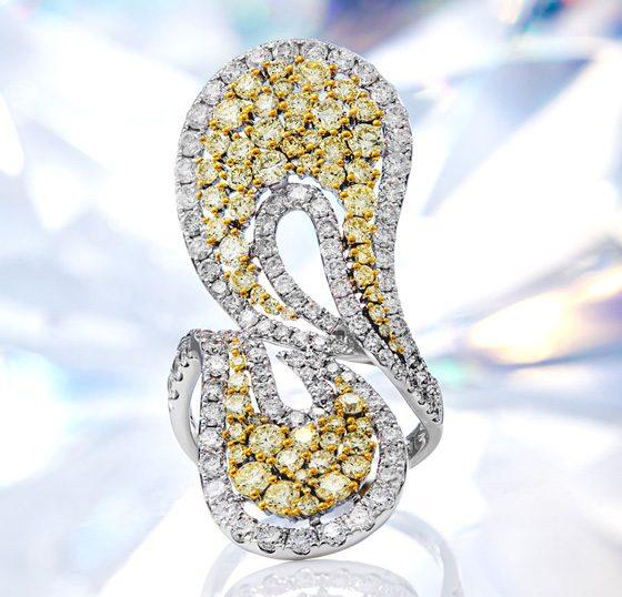 Gelber SI2 Diamant-Goldring (CIRARI)