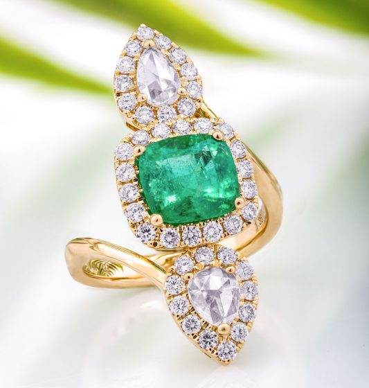 Kolumbianischer Smaragd-Goldring von CIRARI