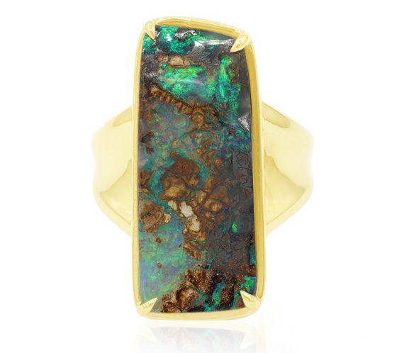 Boulder-Opal-Goldring